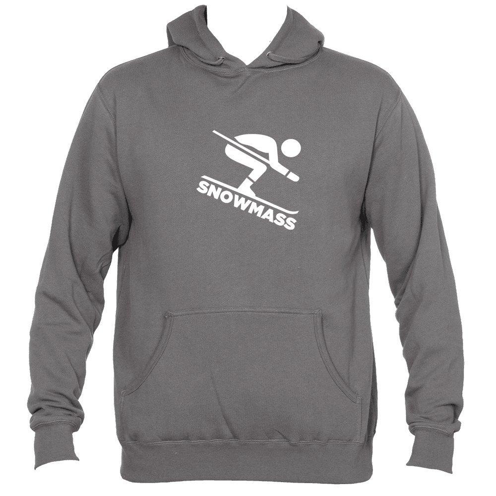 Colorado Downhill Snow Skiing Mens Hooded Sweatshirt//Hoodie Snowmass