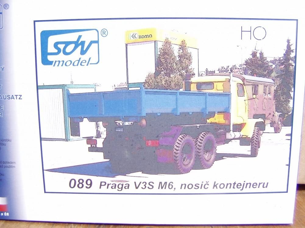 SDV LKW Praga V3S M6 Container Transportfahrzeug Kunststoff Modellbausatz 1:87 H0