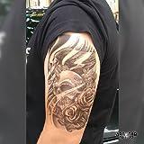 """Temporäre Tätowierung / Temporary Tattoo """"Skull Roses & Bird"""" - ArtWear Tattoo Skull - B0103 M"""