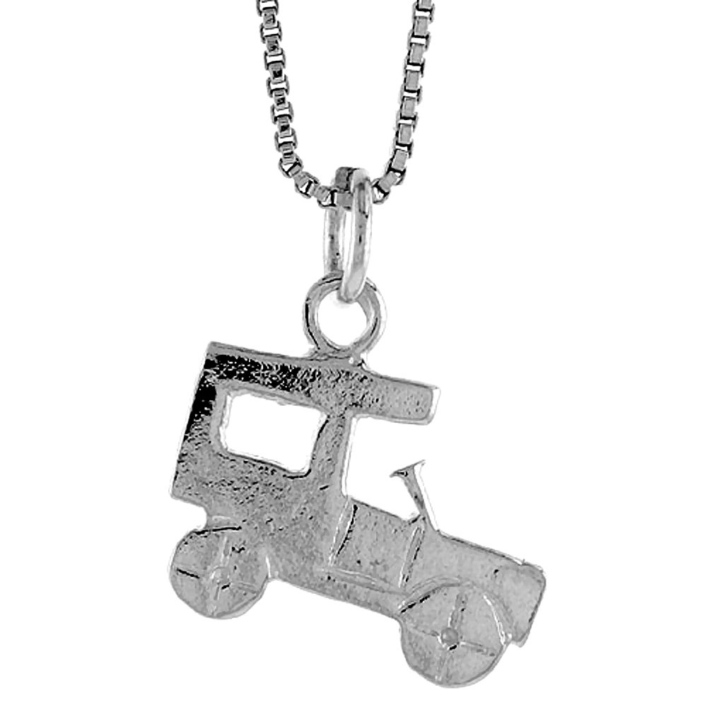 1//2 inch Tall Sterling Silver Antique Car Pendant