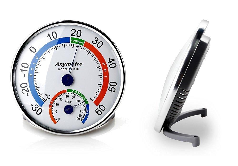 AGM Thermometer Innen Hygrometer mit Analog Temperatur und
