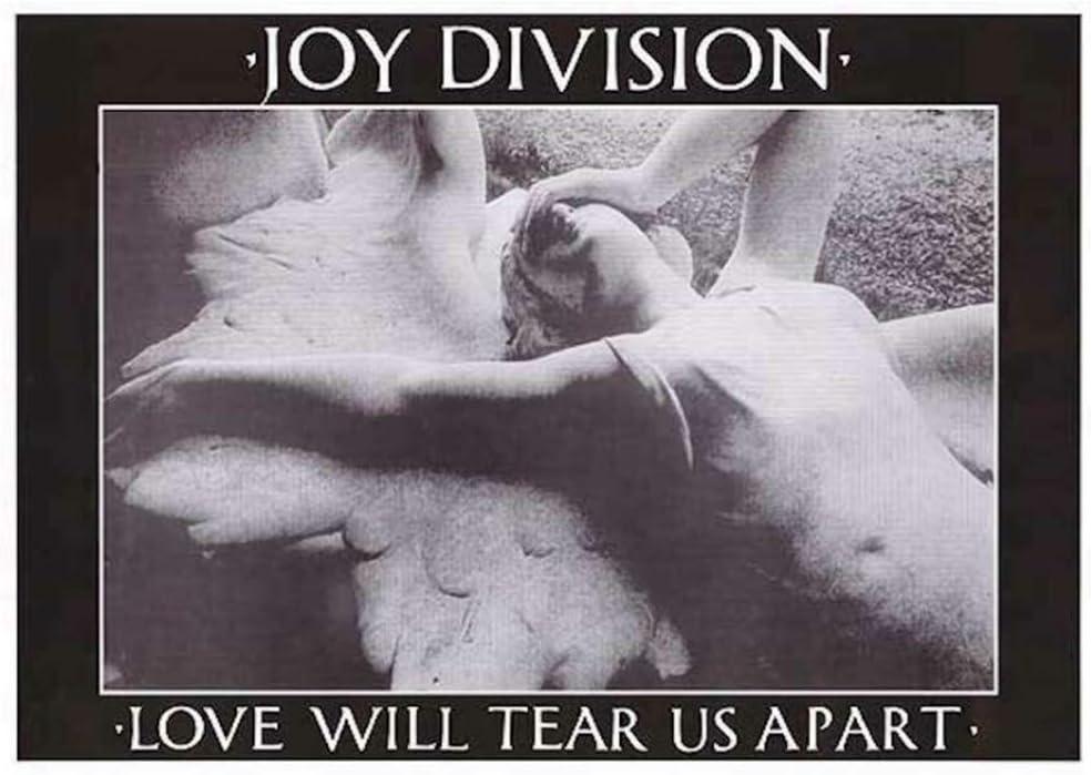 Unframed Indie Rock Art Lyrics Print LWTUA A1 A2 A3 A4 A5 Ian Curtis Joy Division Love Will Tear Us Apart Gig Poster