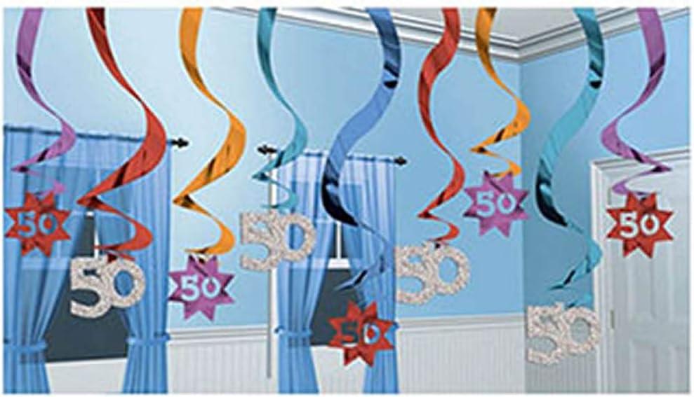 Amazon.com: (50) la fiesta de cumpleaños Cont. Foil ...