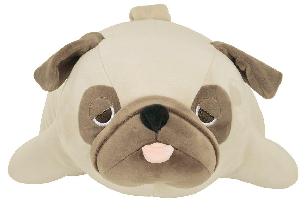 LivHeart Premium Nemu Nemu Sleepy head Animals Body Pillow Beige Plush Dog Pug Hana size M 22x9x5  Japan import 48769-32 Huggable Super Soft Stuffed Toy LIV HEART