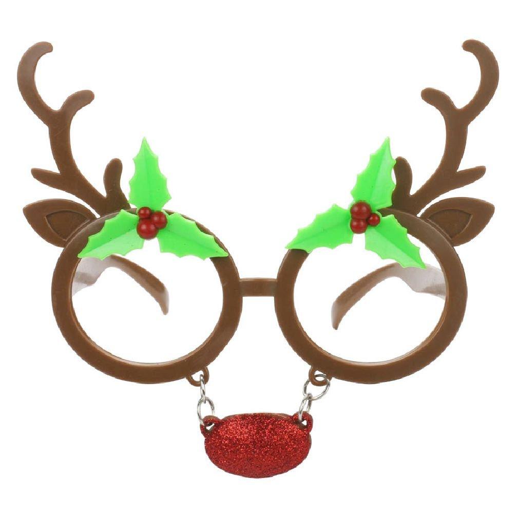 面白いトナカイ装飾ShinyクリスマスデコレーションギフトパーティーコスチュームメガネノベルティサングラスNew Year Party Supplies   B075QFL5JD