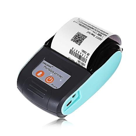 Amazon.com: Impresora térmica portátil con Bluetooth de ...