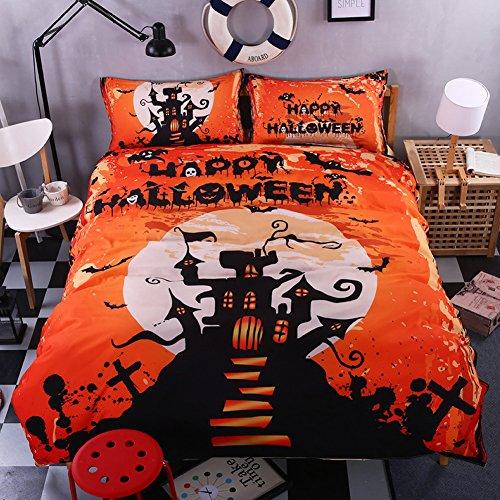 Howsoperfect Halloween Bedding Set Gift 3D Print Magic Duvet Cover Set King