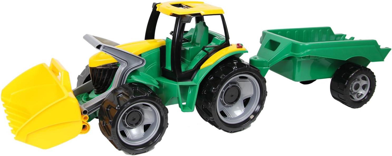 Lena 2123 - Potente Gigantes Tractor con Pala y Remolque, 100 kg de Capacidad, Aproximadamente 62 cm