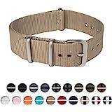 Archer Watch Straps - Cinturini per Orologi, in Nylon, Scelta di Colori e Dimensioni (18mm, 20mm, 22mm, 24mm)