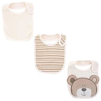 51b4f4110 Amazon.com  Babies R Us Neutral 3 Pack B Is For Bear 3D Bib ...