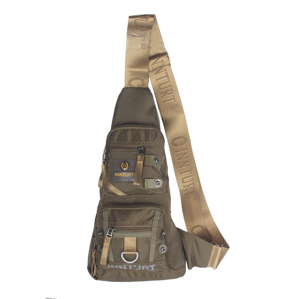 Innturt Nylon Sling Bag Daypack Travel Gym Backpack (S1-Army Green) by Innturt (Image #1)