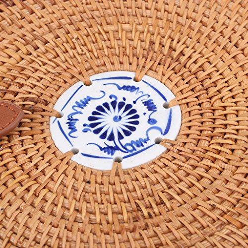 a de Ratán para Bolsa Regalo de Vacación Hacer de Mano MagiDeal de del Señoras Recorrido Vietnam Hecho La 08 de Playa Estilo Compras n4YwxqF