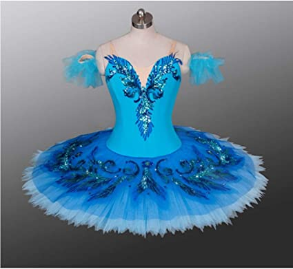 Amazing Professional Classical Ballet Tutu Performance Turquoise Dance Costume