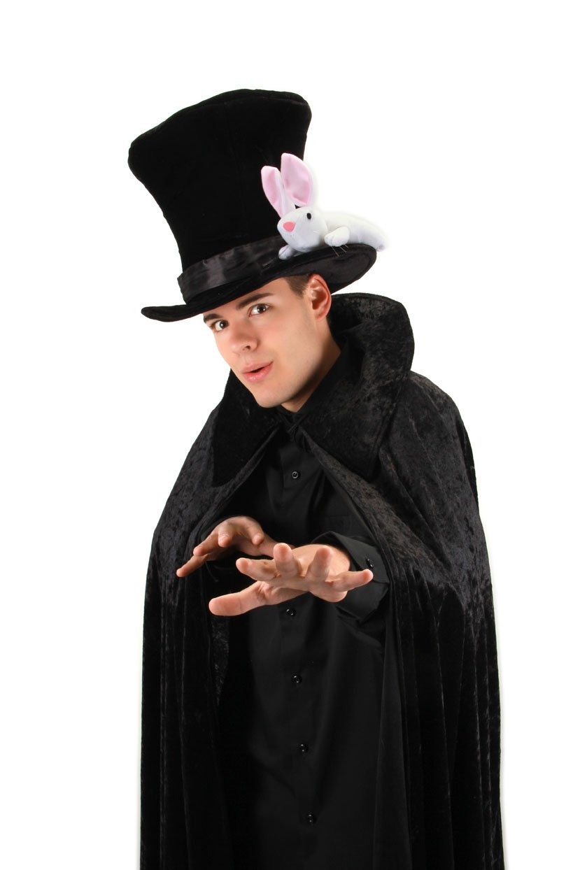 elope Magician Hat with Rabbit for Teens and Adults by elope (Image #4)