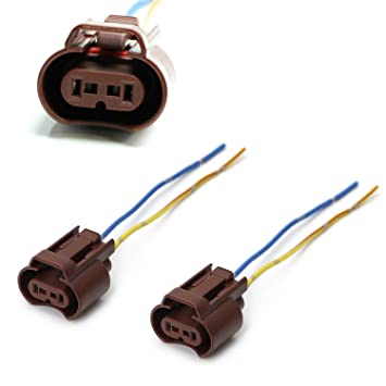 iJDMTOY (2) OEM 9006 HB4 Adapters Wiring Harness Sockets w/ 4-Inch on