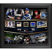 """Dale Earnhardt Jr Framed 20"""" x 24"""" Career in Review Collage With Authentic Race-Used Sheet Metal, Tire, and Fire Suit"""