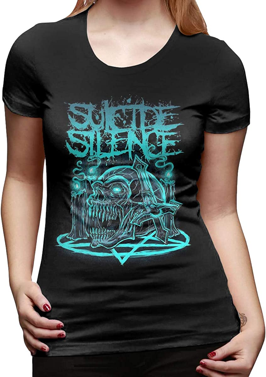 Smooffly Women Suicide Silence Cotton Short Sleeves T-Shirt