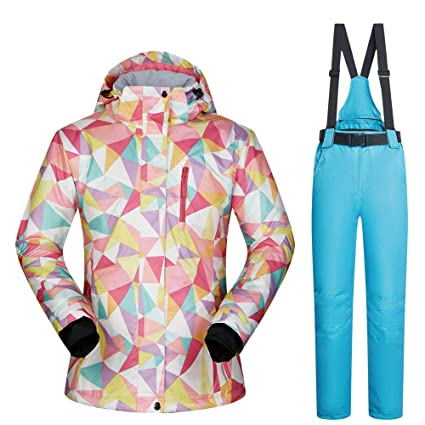 94a514e093 Ski suit Women s Ski Jacket And Pants High Waterproof Windproof Snowboard  Colorful Printed More Color Choose