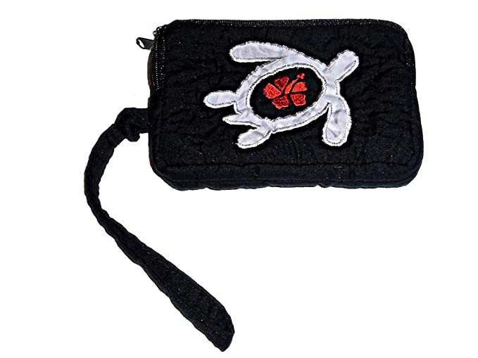 Hawaiian quilted honu wallet black at amazon women s clothing