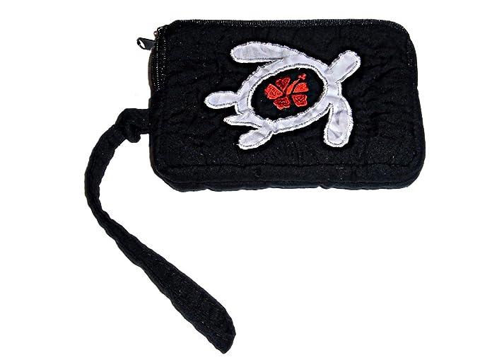 Hawaiian quilted honu wallet black at amazon womens clothing