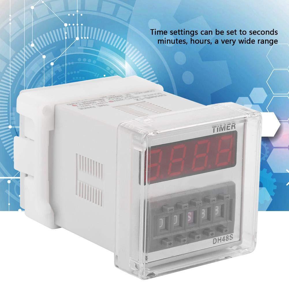 DC12//24V AC110//220V Digital LED Display Timing Time Relay Timer Switch 0.01S-99H