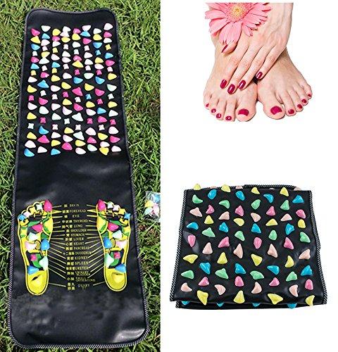 Zinnor Walk Stone Pad-Reflexology Pain Relieve Foot Massager Acupoint Mat Acupressure 175cm 35cm