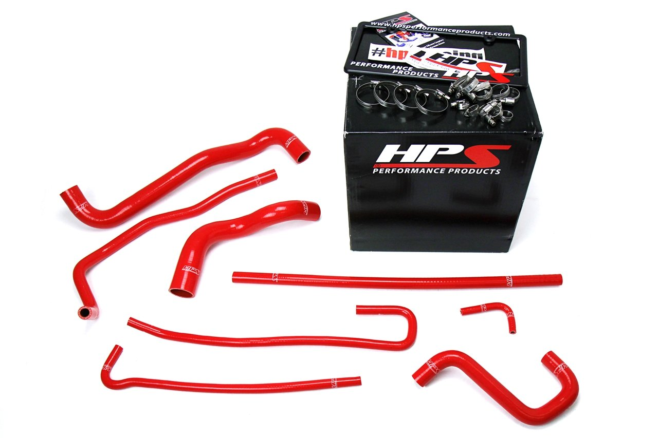 HPS 57-1316-RED Red Silicone Radiator Coolant/Heater Hose Kit by HPS (Image #2)