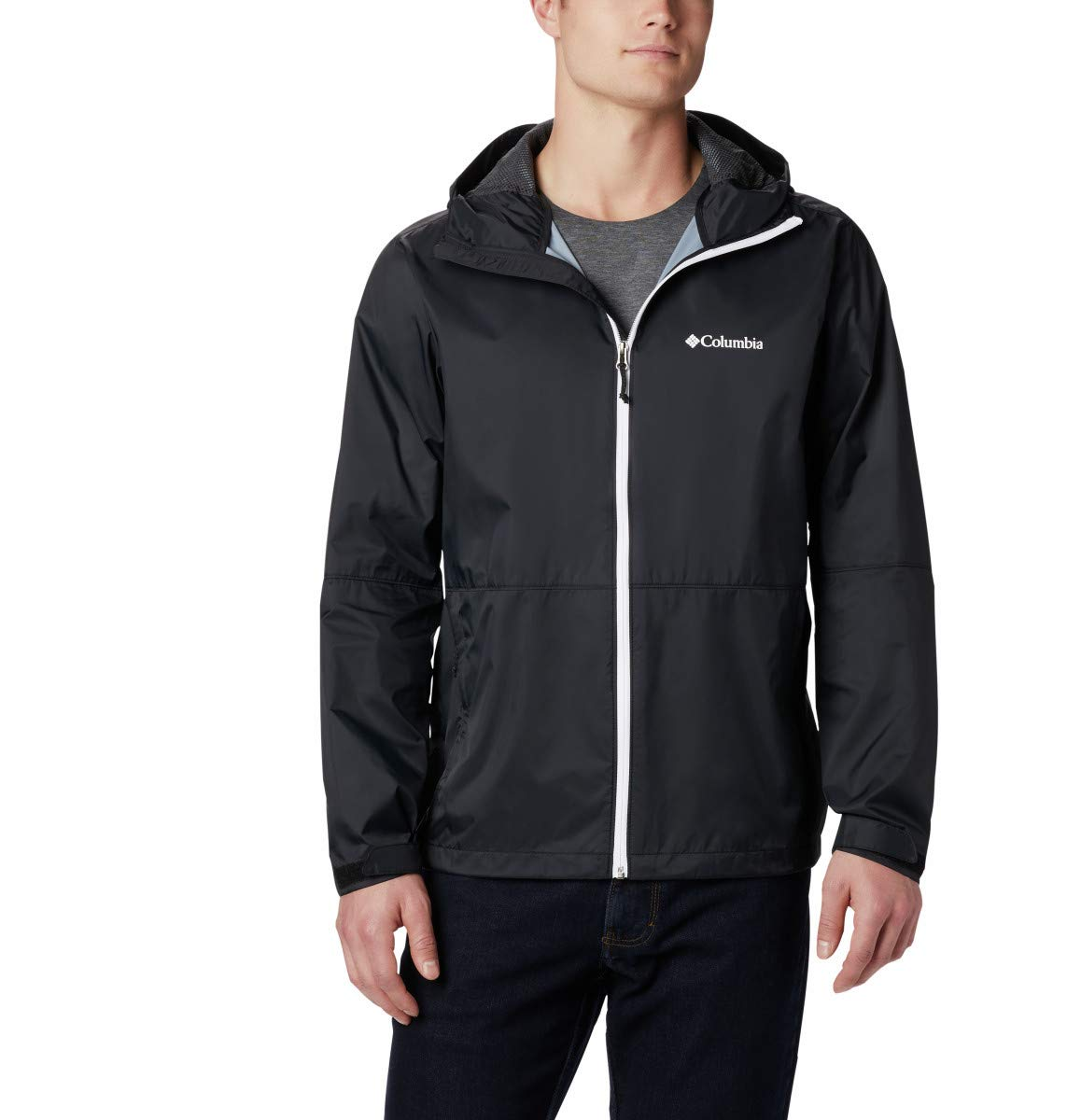 Columbia Men's Roan Mountain Jacket, Black/White, XX-Large