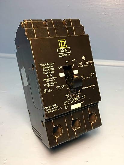 NEW IN BOX SQUARE D EDB34030 30A 3 POLE CIRCUIT BREAKER SQD