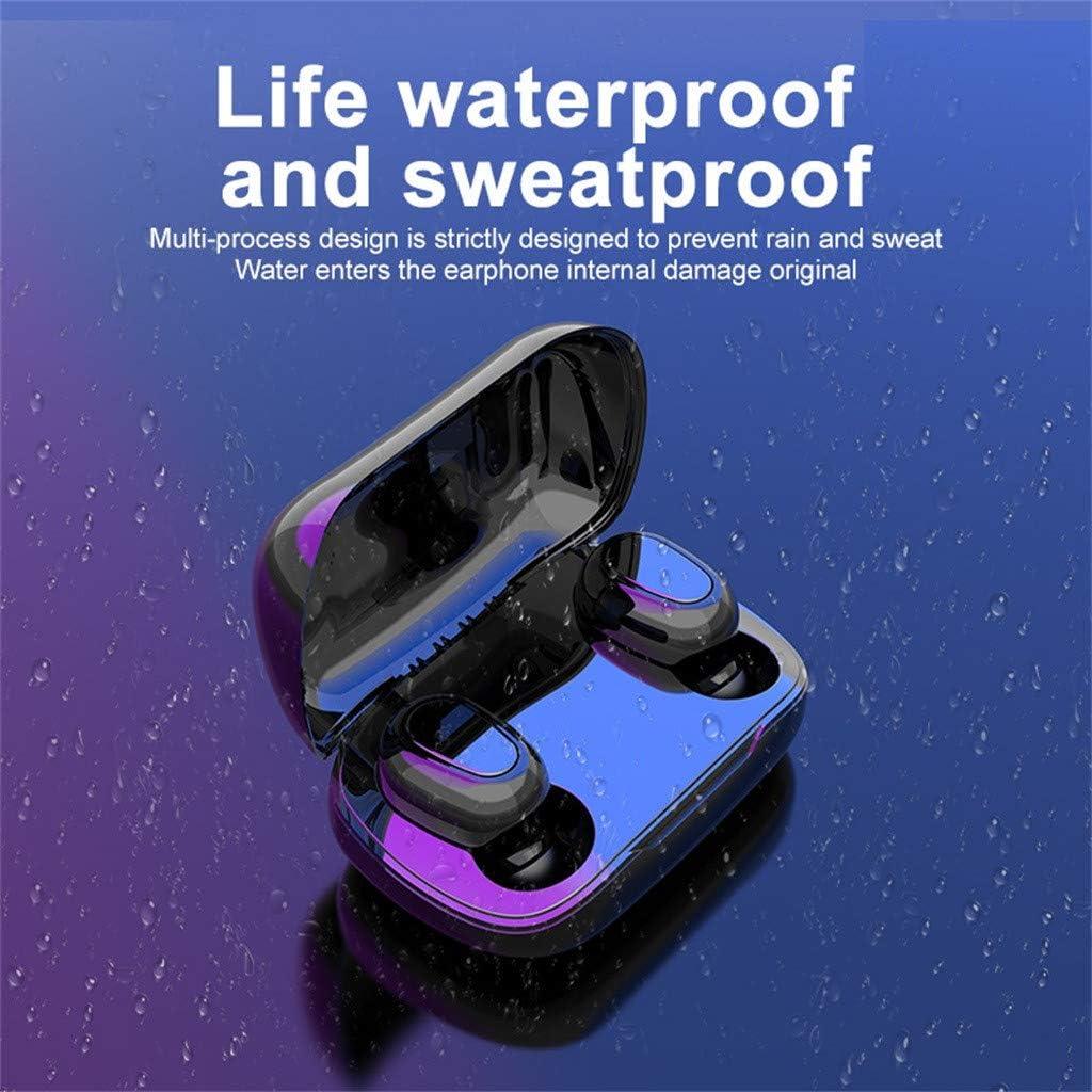 Wireless Bluetooth 5.0 Earphones TWS Mini Sports Headset 3D Stereo Handsfree With Microphone Charging Box|Bluetooth Earphones & Headphones