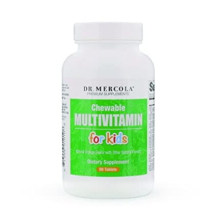 Dr Mercola Childrens Multivitamin Chewables (60 Fruit Flavoured Chewable Tablets) by Dr Mercola