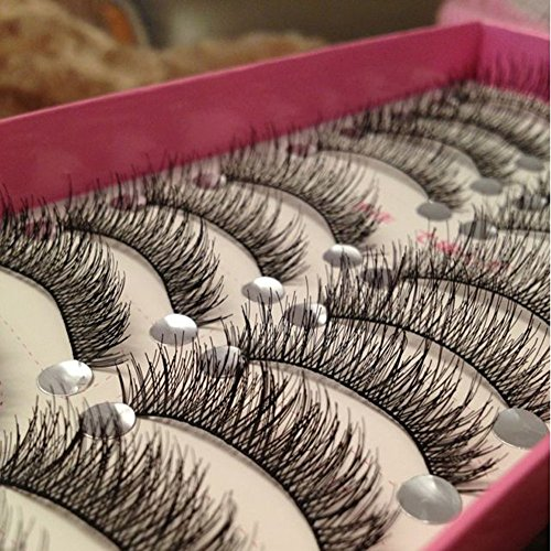 Bhbuy Pro 10 Pairs Makeup Beauty False Eyelashes Eye Lashes Extension Long Thick Cross