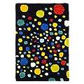 Safavieh Soho Collection SOH728A Handmade Abstract Polka Dots Black and Multi Premium Wool Area Rug