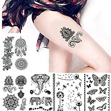 Amazon Com Youngman Henna Temporary Tattoo Set Of 16 Designs