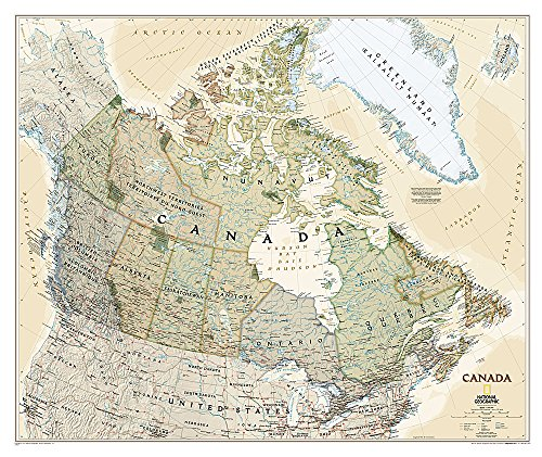 National Geographic: Canada Executive Wall Map (38 x 32 inches) (National Geographic Reference...
