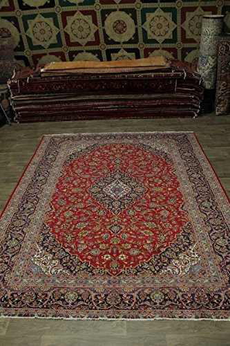 - 10X13 Traditional Semi Antique Kashan Persian Style Rug Oriental Area Carpet 9'8X12'6