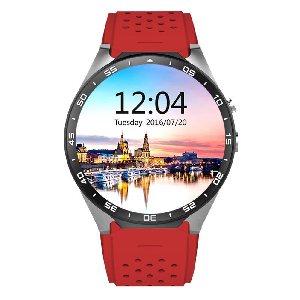 スマートな腕時計 red、歩数計の活動の追跡者の心拍数のモニターGPSの位置付けWiFiのインターネットの男性および女性のフィットネスの腕時計 red B07L2L68N4, カメラのナニワ:167fa640 --- gallery-rugdoll.com