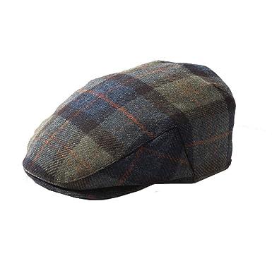 59227ba92e Earland Brothers Failsworth Quality English Tweed Flat Cap Mallalieus  Tweeds 56-63cm Green/Blue Patch 208
