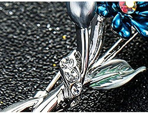 Gespout Broche Bijoux Alliage Femmes filles Fleur Bleu Accessoires de v/êtements Cadeau danniversaire D/écoration de Vacances Parties