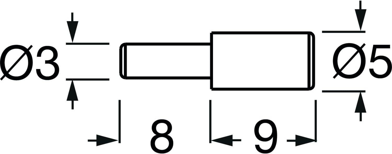 40 St/ück verzinkt schwarz Bohr /ø 3 mm Steckbodentr/äger Mini