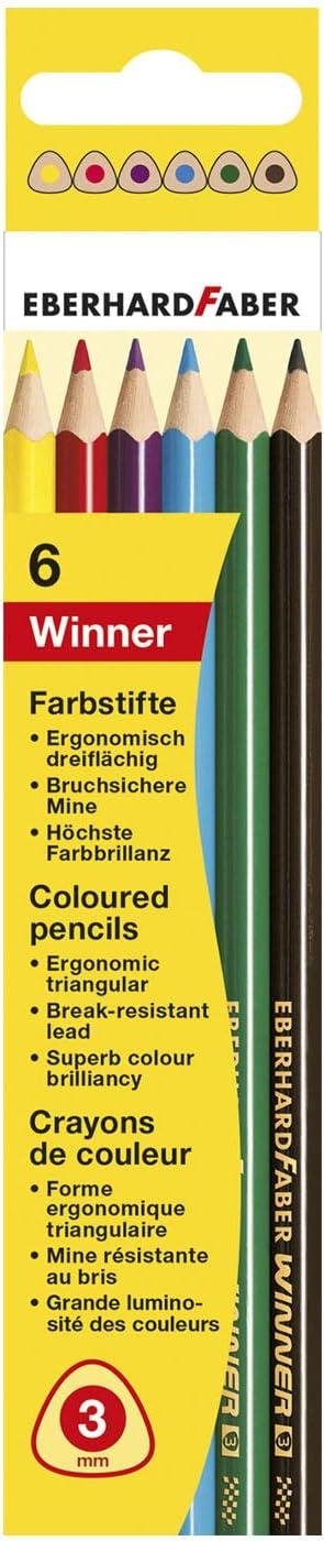 Buntstifte Winner 6er Kartonetui Eberhard Faber 511406 dreifl/ächig