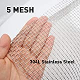 BAISDY 5 Mesh 304L Stainless Steel Wire Mesh, 30cm