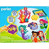 Perler Beads 3D Ocean and Mermaid Fuse Bead Kit, 4006 piezas, 22 proyectos