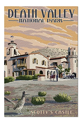Death Valley National Park - Scotty's Castle (20x30 Premium 1000 Piece Jigsaw Puzzle, Made in USA!)