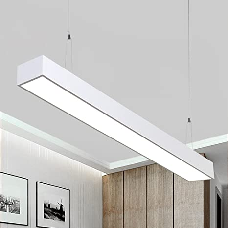 PIAOLING Lámparas Colgantes largas Blancas Simples Modernas ...