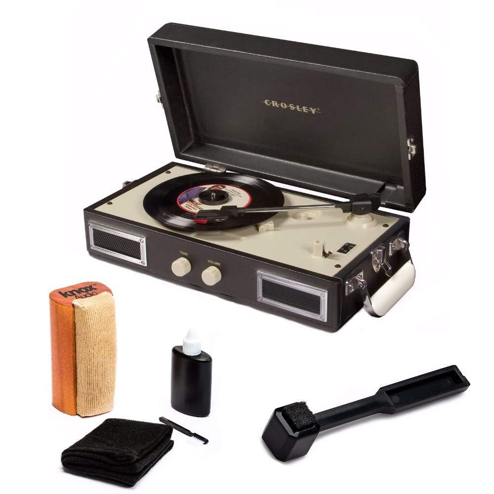 Amazon.com: Crosley CR40-BK Mini portátil Turntable Full ...