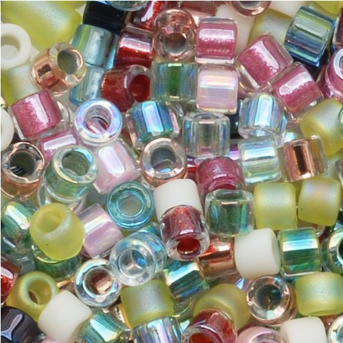 Miyuki Delica Seed Beads Mix 10/0 Spring Flowers Mixed Pastels 8 Grams - Delica Bead Loom