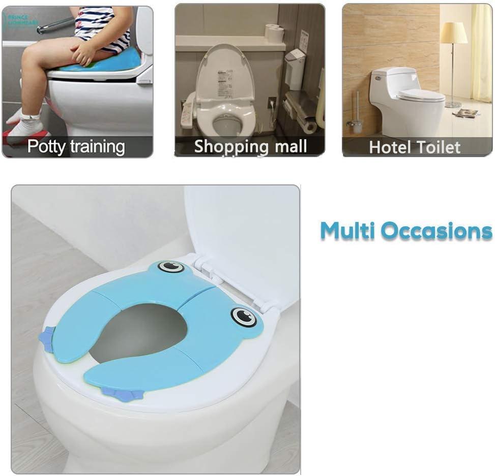 RIGHTWELL Plegable Viajes Potty Asiento Inodoro Reductor Infantil como Protector Orinal de Beb/é con Dibujos Rosado Tapa WC Plegable para Ni/ños Compacto y Port/átil para Viajes