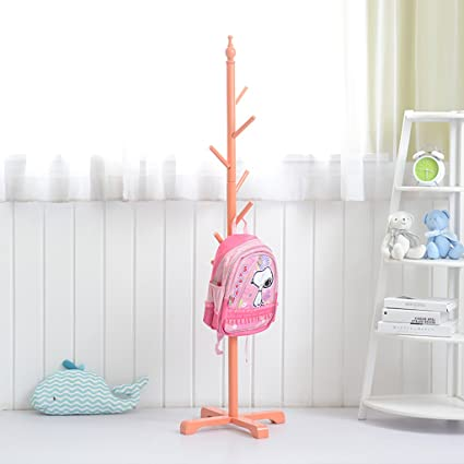 Amazon.com: coat rack Childrens solid wood coat rack, floor ...