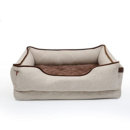 Cama de Mascota Colchón Rectangular Extraíble y Lavable Cama de Perro Universal Transpirable y Confortable de